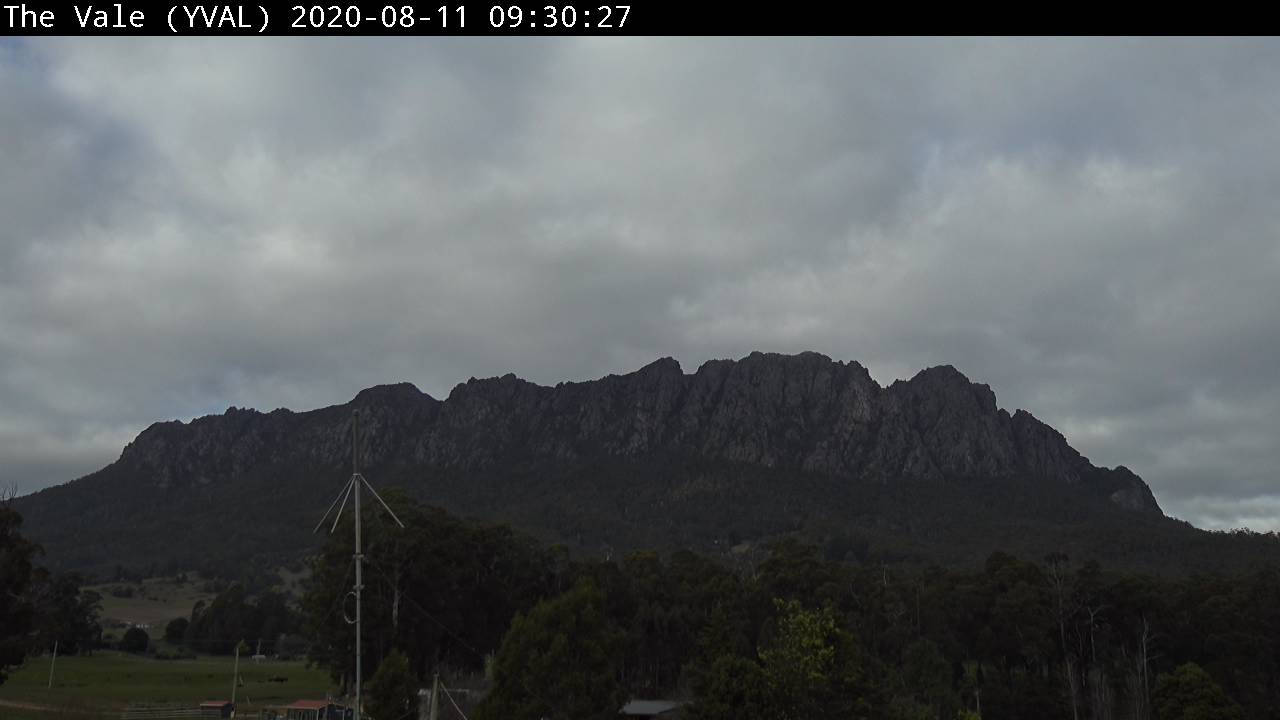 Mount Roland viewed from The Vale webcam image