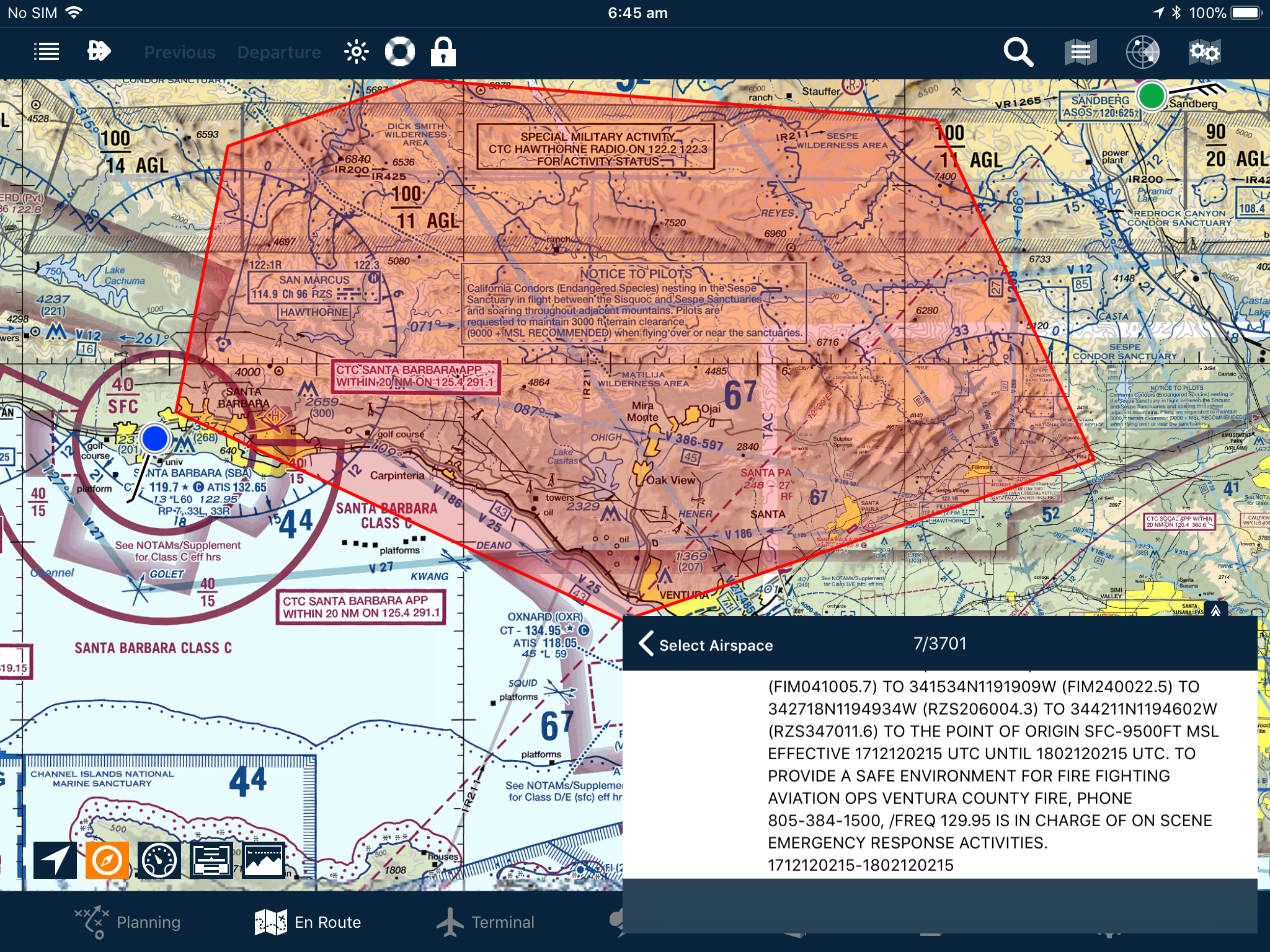 Wildfire TFR